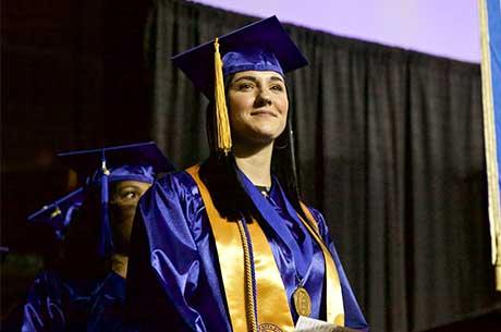 Female TCC graduate.