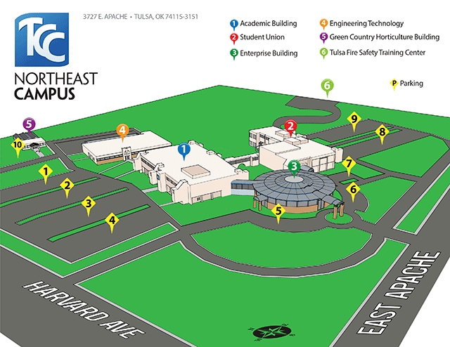 Tcc Southeast Campus Map Northeast Campus | Tulsa Community College