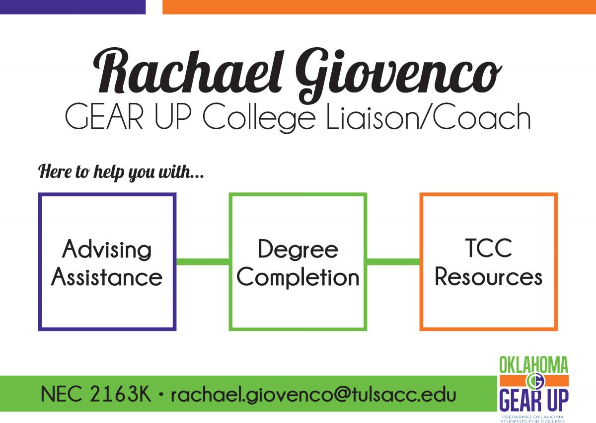 Rachael Giovenco Gear Up College Liaison Coach