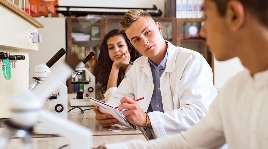 chemistry and biology labs