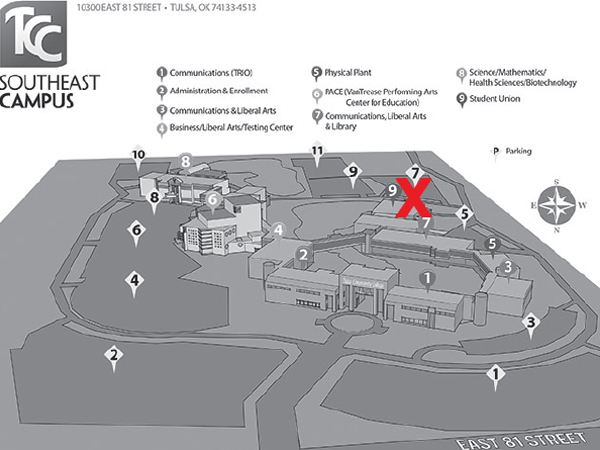 Southeast Campus Map