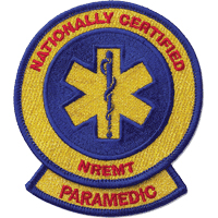 Nationally Certified NREMT Paramedic patch