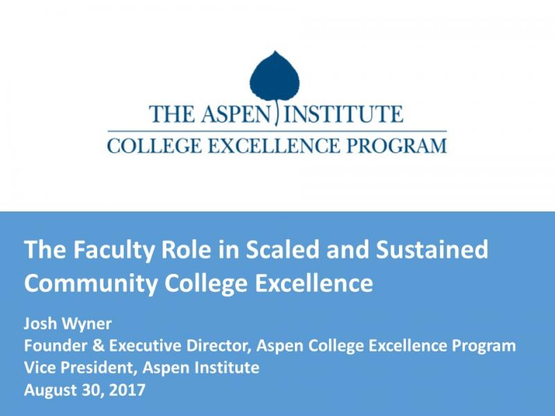 Myra Snell: Role of Faculty Learning in Community Colleges ...