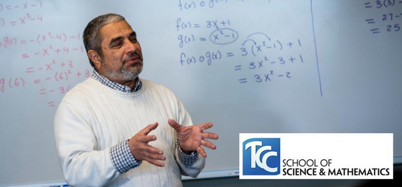 TCC Professor Leads a Math Class.