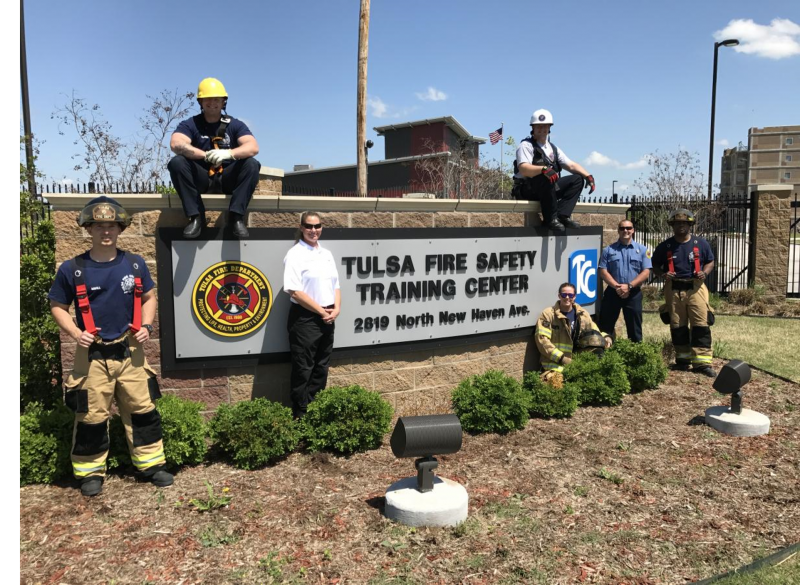 Tulsa Regional Fire Academy welcome sign