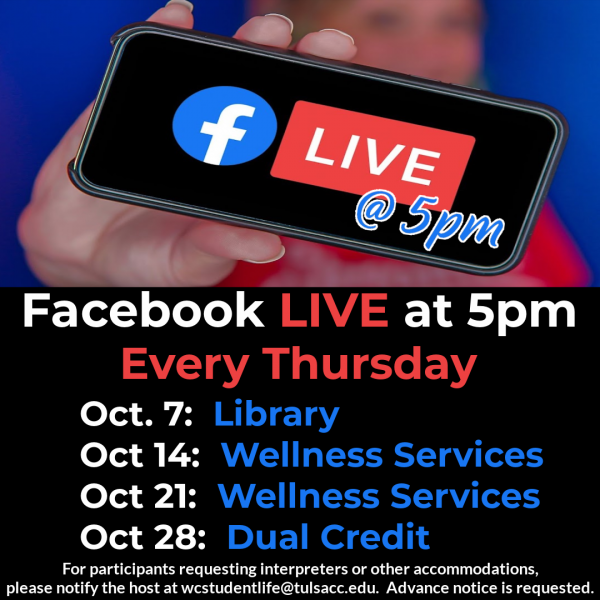 Facebook LIVE at 5pm