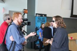Artist John Bramblitt interviewed at TCC exhibit