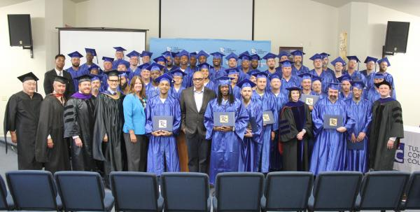 group photo of 2017 graduates at Dick Conner Correctional Center