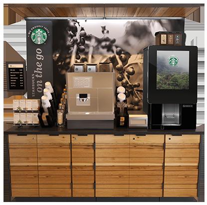 """Starbucks """"On The Go"""" kiosk"""
