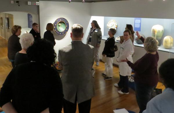 TCC Health Science faculty participate in Visual Thinking Strategies at Philbrook Museum