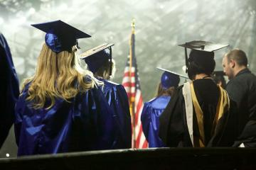 students graduating with an associate degree