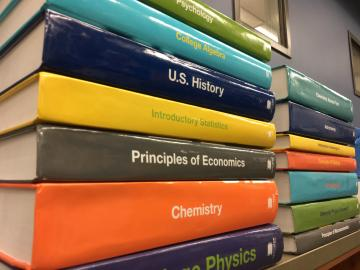 photo of OpenStax textbooks