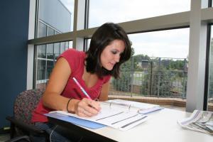 TCC student studying