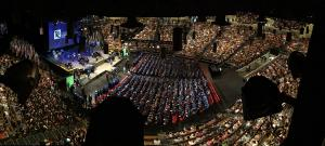 panaromic of TCC graduation