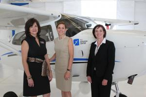 TCC President Leigh B. Goodson with speakers from grand opening ceremony.