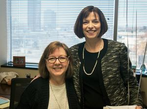 Jan Dickinson with TCC President & CEO Leigh B. Goodson