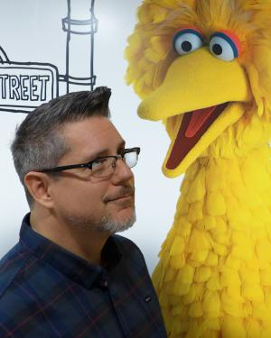 Kip Rathke and Big Bird of Sesame Street