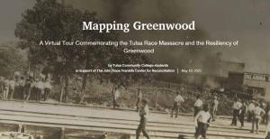 image from 1921 with text overlay from Mapping Greenwood site