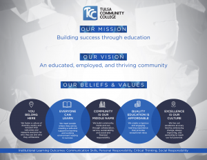 Mission, Vision, Beliefs and Values