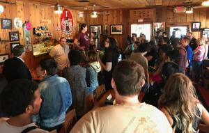 TCC students make stop at Rock Cafe in Stroud on Pops Fusion 66 trip