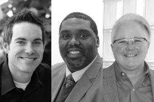 Provost candidates Dr. Kristopher Copeland, Dr. Michael J. Self, Sr., and Dr. Angela Sivadon.