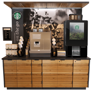 "Starbucks ""On The Go"" kiosk"