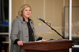 photo of TCC Foundation Chair Konnie Boulter speaking at a TCC Foundation event