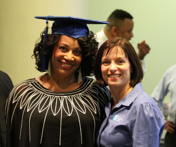 Terry Brown and TCC President Leigh B. Goodson