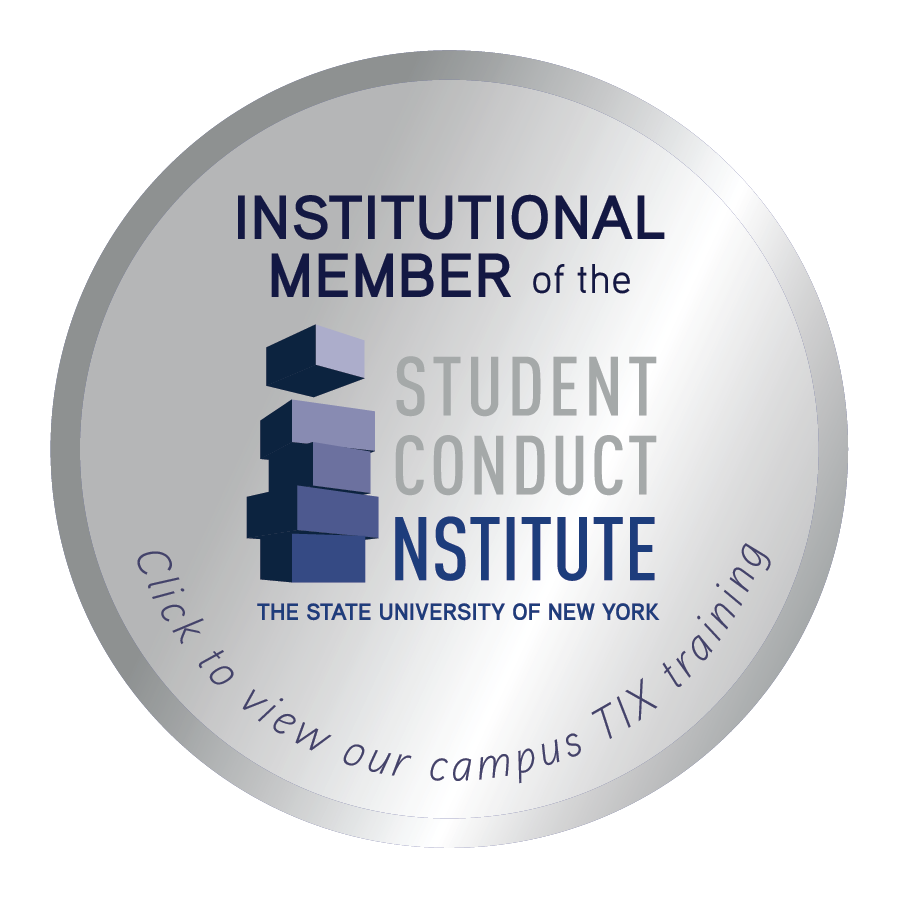 Institutional member of the Student Conduct Institute The State University of New York. Click to view our Title IX training.