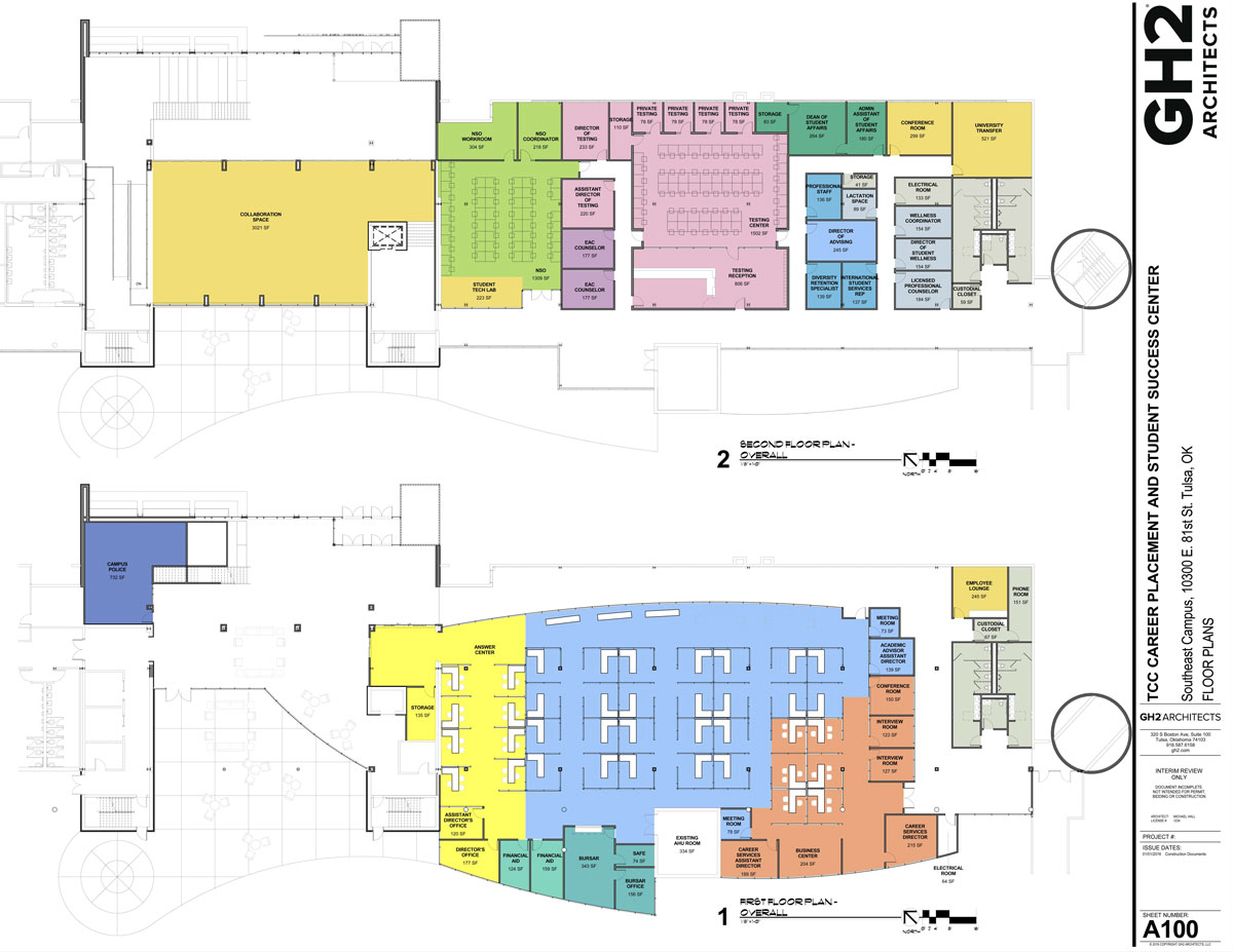 Student Success And Career Center Renderings And Maps Tulsa
