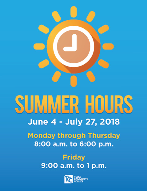summer hours June4 -July 27