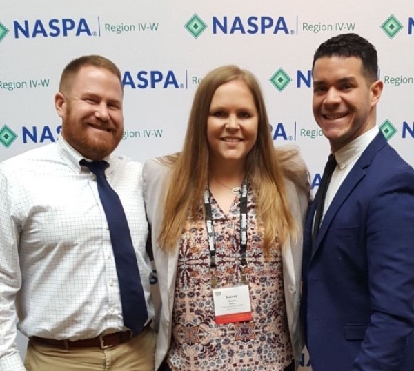 David Adams, Kassey Steele and Miguel Da Corte recently presented at the NASPA Student Affairs Administration in Higher Education IV-West Regional Conference