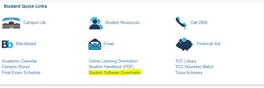 Student Software Downloads MyTCC Student Softward Downloads