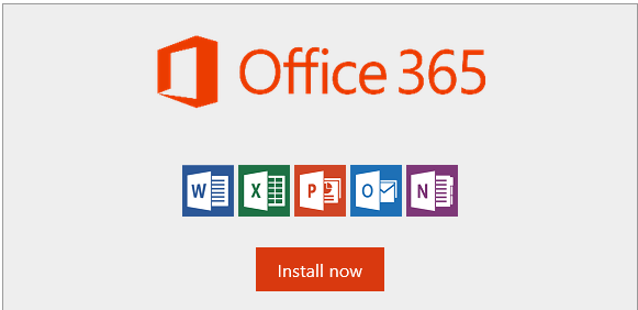 Office 365 Install now