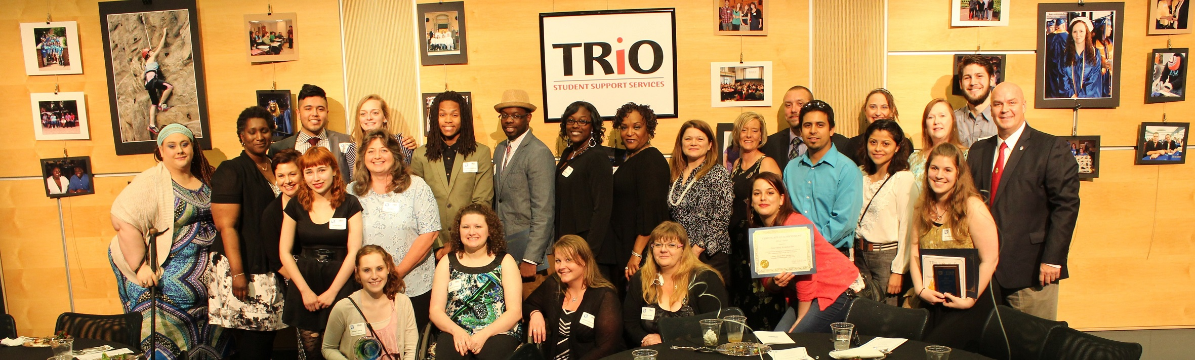 TRiO Student Group Picture from 2015 Gala