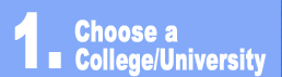 Choose a College/University button